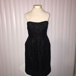 J. Crew Women's Black Strapless Dress Size 10